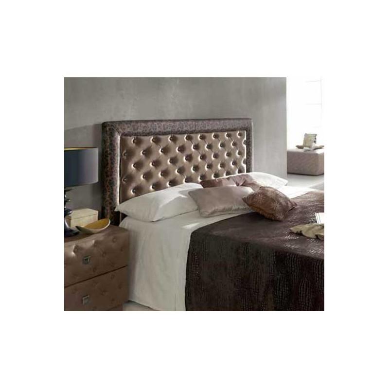 Cabezal tapizado polipiel con marco y botones - Cabezal cama polipiel ...
