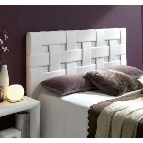 Cabezal tapizado en polipiel Diseño Trenzado