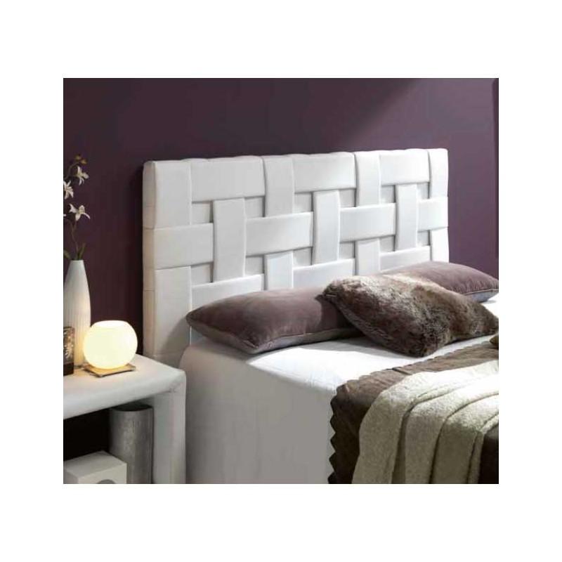Cabezal tapizado en polipiel dise o trenzado - Cabezal cama polipiel ...