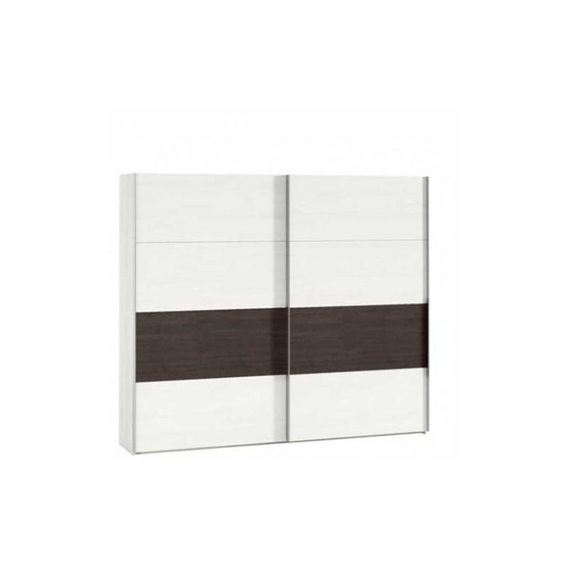 Armario dos puertas correderas blanco polar y azabache - Armario blanco puertas correderas ...
