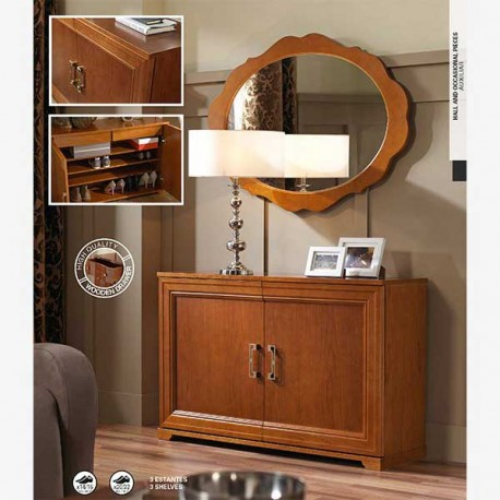 Recibidor zapatero estilo cl sico en madera de haya for Zapatero en el recibidor