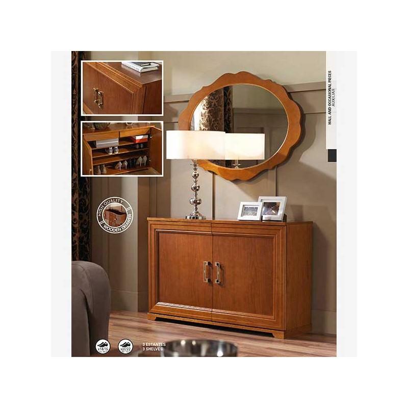 Recibidor zapatero estilo cl sico en madera de haya for Zapatero color haya