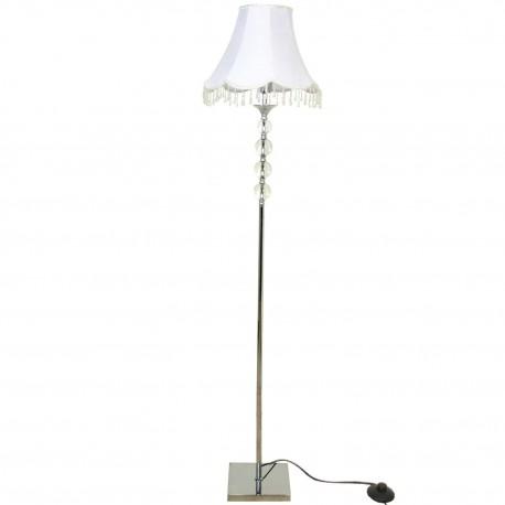 Lámpara de pie metal con pantalla