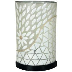 Lámpara fabricada en en Fibra y Nácar