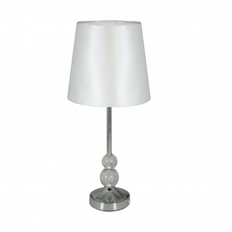 Lámpara de metal y cristal