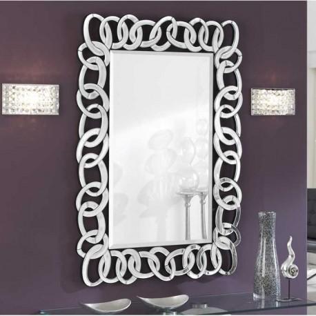 Espejo con marco de lunas