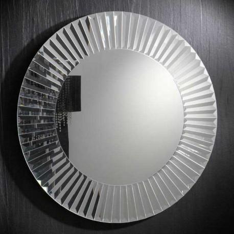 Espejo redondo con marco de lunas