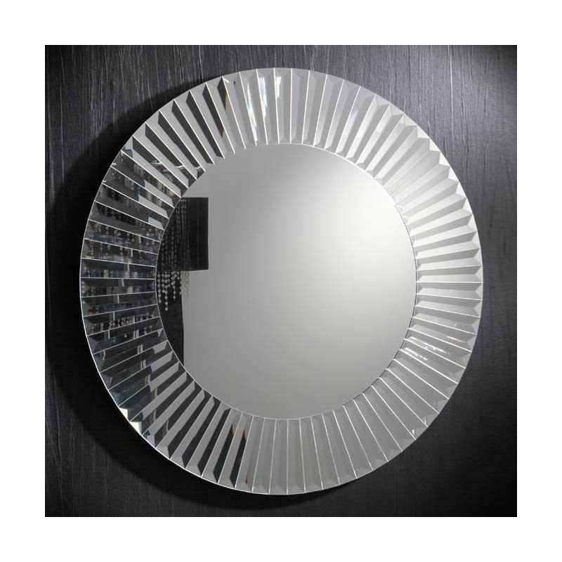 Espejo redondo con marco de lunas for Espejos redondos con marco de madera
