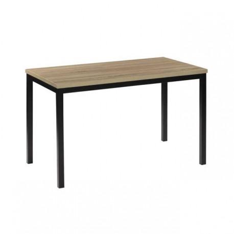 Mesa con tapa Cambrai y patas en Negro.