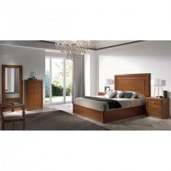 Dormitorio clásico Nogal