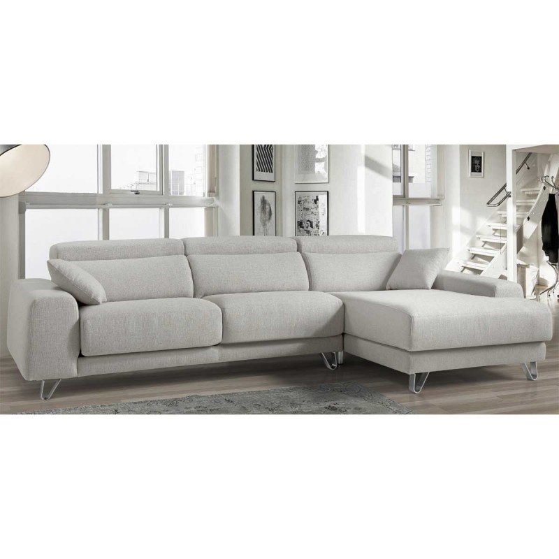 Sof tres plazas con chaise longe for Sofa tres plazas chaise longue