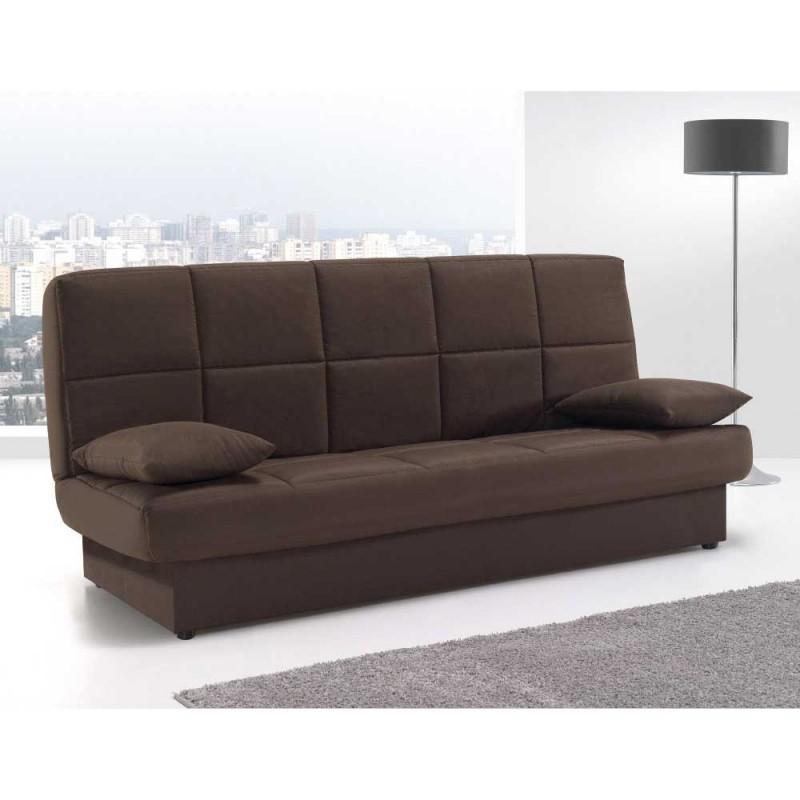 Sofá cama tipo libro con sistema clic-clac. Envío gratuito sin portes