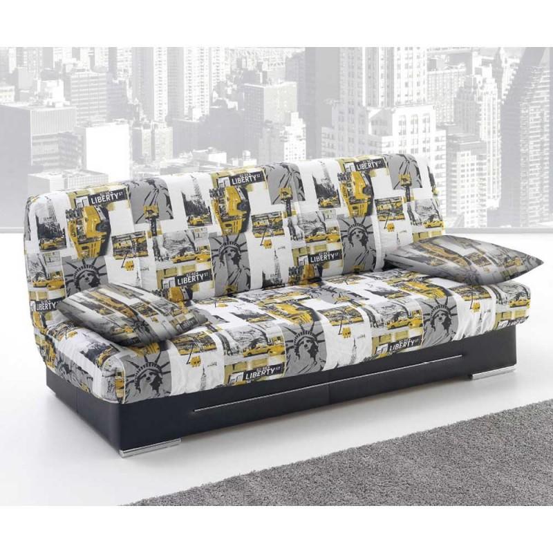 Sof cama telde con apertura clic clac for Sofa cama clic clac oferta