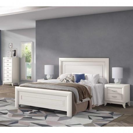 Dormitorio clásico acabados en Blanco
