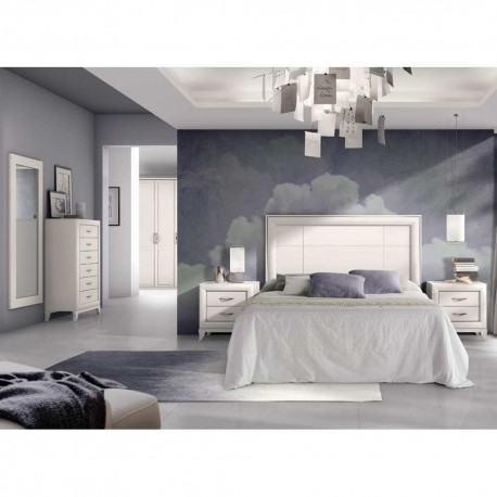 Dormitorio clásico acabado en Blanco
