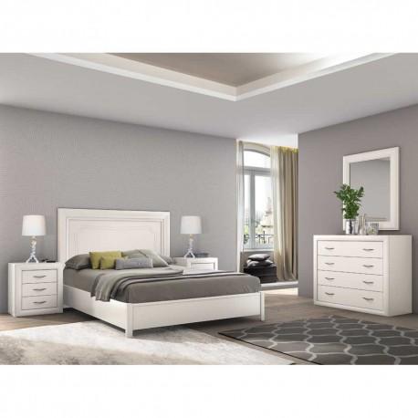 Dormitorio estilo clásico acabado Blanco