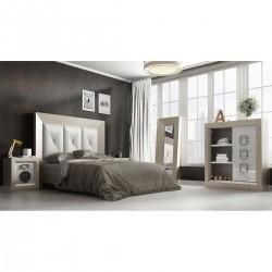 Dormitorio contemporáneo en Roble y Blanco