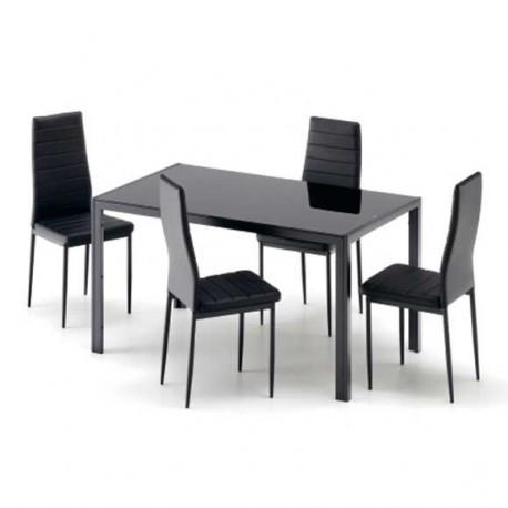 Conjunto Vega: mesa y cuatro sillas