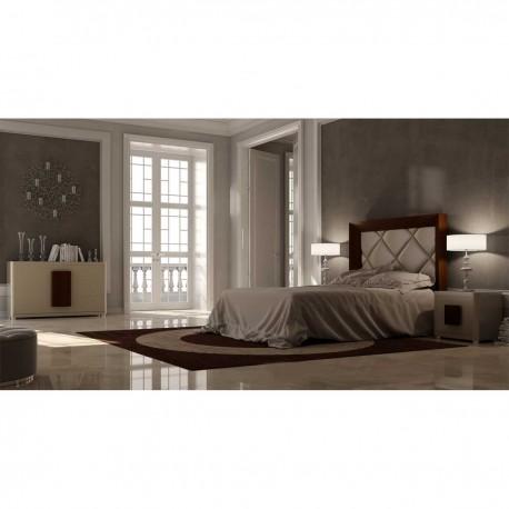 Dormitorio color Nogal y Beige