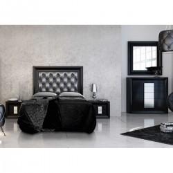 Dormitorio lacado mate Negro