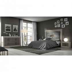 Dormitorio contemporáneo Roble y Ceniza