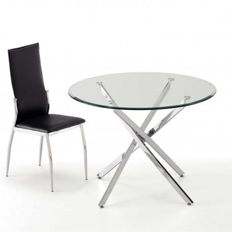 Conjunto mesa redonda y 4 sillas