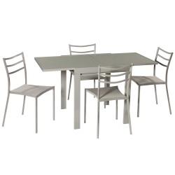 Pack Mesa extensible y 4 sillas