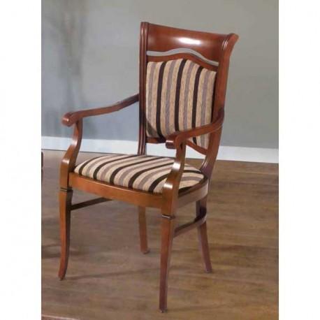 silla cl sica con respaldo tapizado