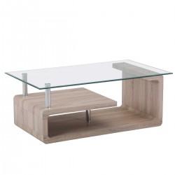 Mesa de Centro con cristal transparente