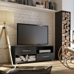 Mueble TV con cajones y huecos