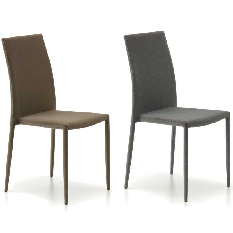 Pack de dos sillas modernas modelo eloy acabadas en pvc y for Sillas de metal modernas
