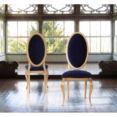 Silla con respaldo tapizado oval