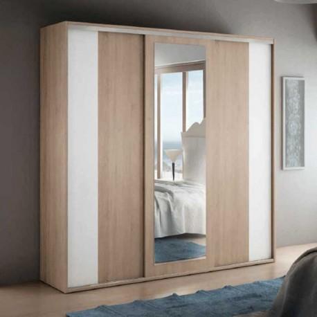 Armario puertas correderas con lunas for Armarios dormitorio matrimonio