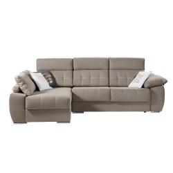 Sofá con chaise longue (acabado Arena o Gris)