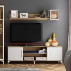 """Mueble de TV """"vintage"""" con puertas y huecos"""