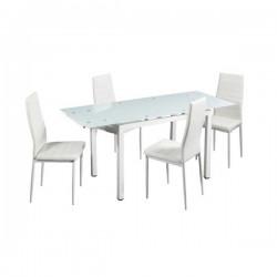 """Conjunto mesa y 4 sillas """"VIAN"""""""