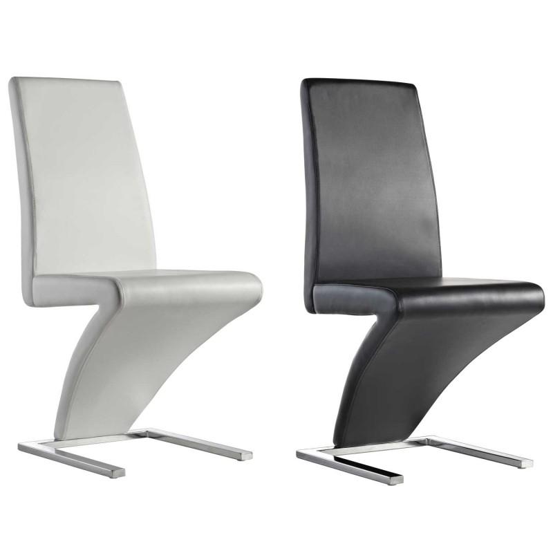 Silla estilo moderno modelo ruth en blanco o negro env o for Sillas italianas modernas