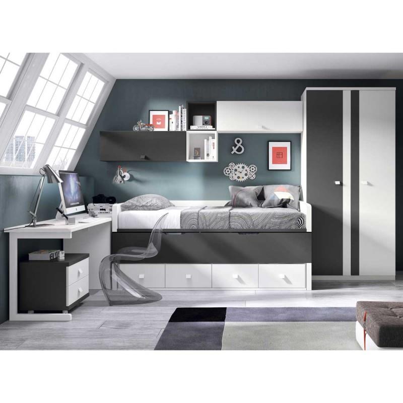 cama juvenil compacta doble y con cajones env o a