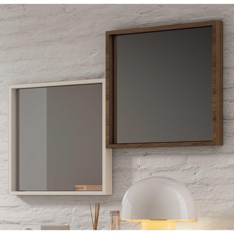 Espejos cuadrados de dormitorio en nogal o seda env o for Espejos cuadrados