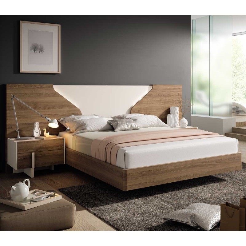 Dormitorio con panel cabecero con iluminación leds. Envío gratuito