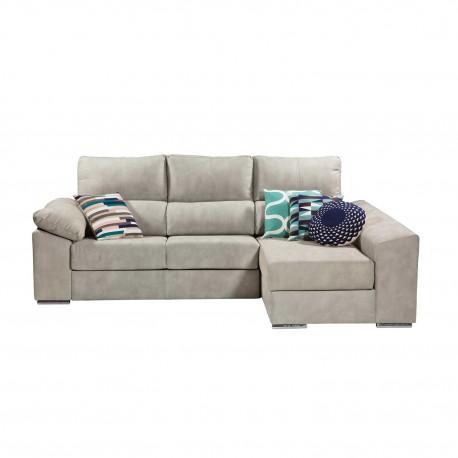 """Sofá con chaise longue tapizado """"Galicia"""""""