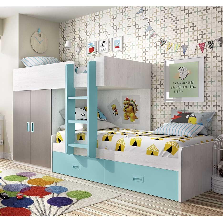 Literas con armario incorporado top en una habitacin - Literas con armario incorporado ...