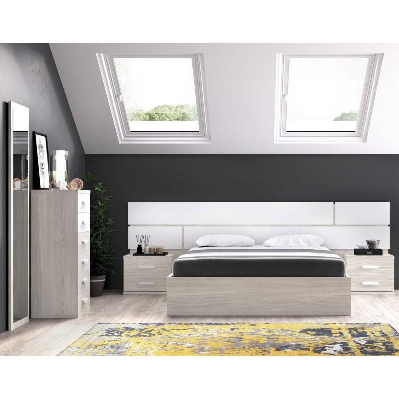Dormitorio Moderno Completo Con Cabezal Y Ba Era Somier