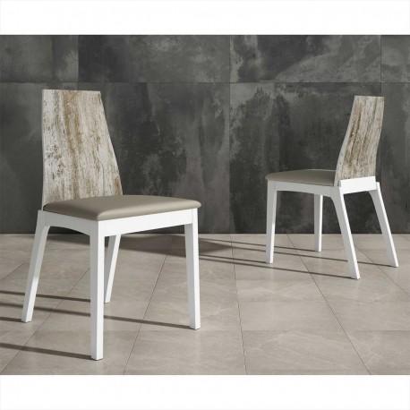Silla asiento tapizado
