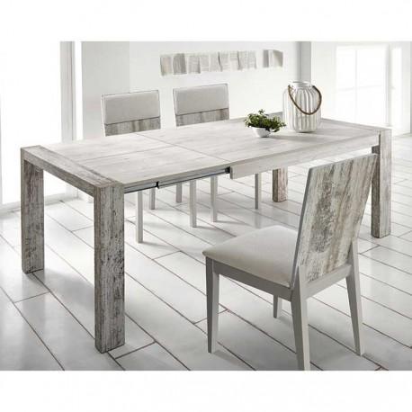 Conjunto mesa exten. y sillas