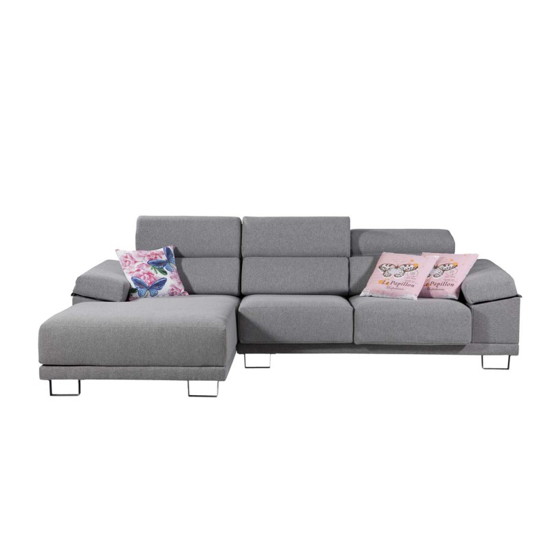 Sof con chaise longue y asientos extraibles for Sofa 5 plazas chaise longue